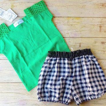 緑色のTシャツは、ボトム何にしようかなって、考えると意外と何にでも合うのでビックリです‼