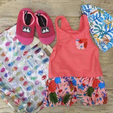 水着、水泳帽、プールバック、夏ですね😃