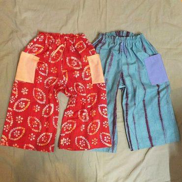 ずっとずっと考えていた、夏の長パンツ形にしてもらいました。