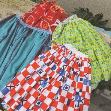 ハンドメイドスカートです