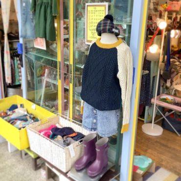 ストーンウォッシュのスカートは80年代に大流行りでした。